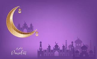 Eid Mubarak Gruß Ramadan Kareen Vektor Wunsch für islamisches Festival für Banner, Poster, Hintergrund