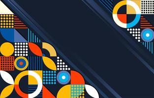 bunter abstrakter Hintergrund mit flacher Farbe vektor