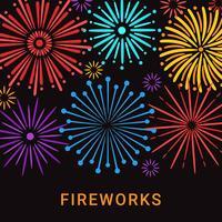 Feuerwerk Hintergrund Vektor
