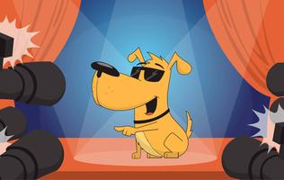 Vektor-Posing-Hundeillustration