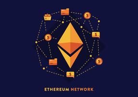 Ethereum-Netzwerk-Vektor vektor