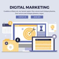 Vektor Digital Marketing Design Illustrationer