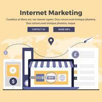 Vektor-Digital-Marketing-Design-Illustrationen vektor