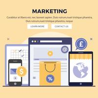 Vektor Digital Marketing Design Illustration