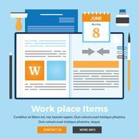 Vektor-Arbeitsplatz-Einzelteil-Illustration