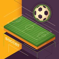 isometrischer Fußball vektor