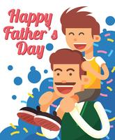 Glückliche Vatertag-Illustration vektor