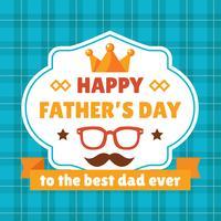 Glückliche Vatertag-Abzeichen vektor