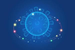 virusmutation. virus och sjukdomar som överförs av luftburna droppar vektor