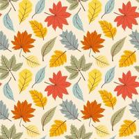 einfaches Herbstmuster vektor