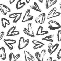 handritad hjärtan mönster vektor