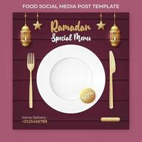 ramadan bannerannons. ramadan sociala medier postmall vektor