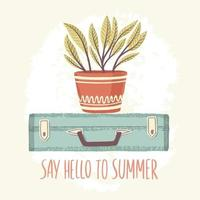 Sag Hallo zum Sommer vektor