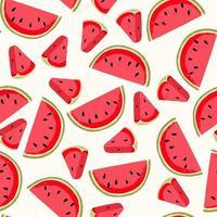 vattenmelon sömlösa mönster vektor