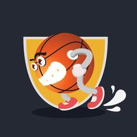 Basketmaskotillustration vektor