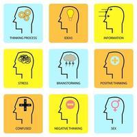 mänskligt sinne och tanke vektor