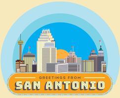Grüße aus San Antonio Vector