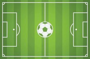 fotbollsplan med fotboll bakgrund vektor
