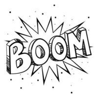skissillustration av en komisk explosion vektor