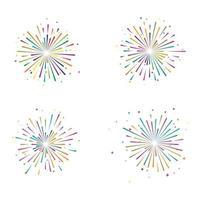 Feuerwerksvektorikonenillustration vektor