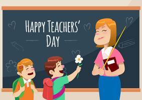 Glad lärarnas dag vektor