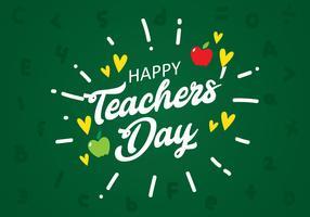 Lärarnas dag Skrivelse ombord vektor