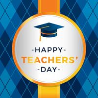 Lehrer Tag Gruß Vektor