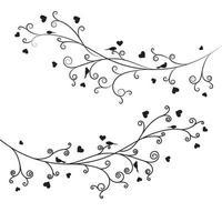 Ast-Liebesvektor-Illustrationsentwurf des Astes vektor