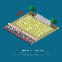 isometrisk fotboll vektor illustration