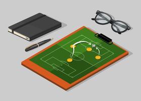 fotbollsstrategi styrelse vektor