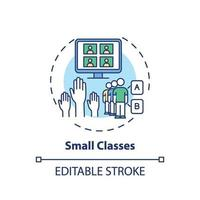 små klasser koncept ikon vektor