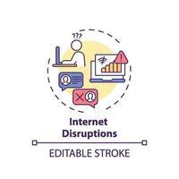Konzeptkonzept für Internetstörungen vektor