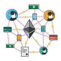 Ethereum Netzwerk vektor