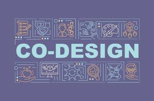 Förderung gemeinsamer Ideen Wortkonzepte Banner vektor