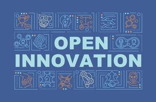 Öffnen Sie das Banner für digitale Innovationswortkonzepte vektor