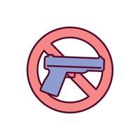 Verbot Waffen RGB Farbikone vektor