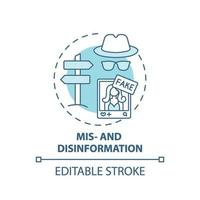 Symbol für Fehlinformationen und Desinformationskonzepte