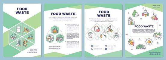 Broschüre Vorlage für Lebensmittelabfälle vektor