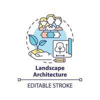 Landschaftsarchitektur-Konzeptikone vektor