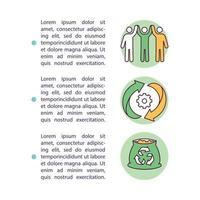 organiska återvinningsinitiativ konceptikon med text vektor