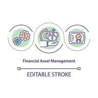 konceptikonen för finansiell kapitalförvaltning vektor