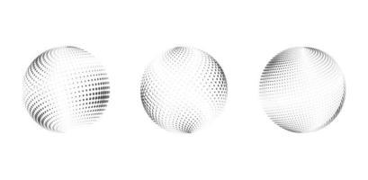 Set Halbton Kreis abstraktes Gestaltungselement für kosmetische, medizinische, Behandlung. Vektorillustration