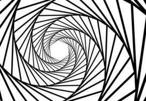 abstrakt vågiga linjer optisk illusion. geometrisk bakgrundsdesign. vektor illustration