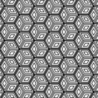 Hintergrunddesign des abstrakten geometrischen Würfelmusters. Vektorillustration vektor