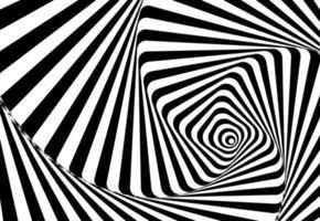 abstrakte Wellenlinien optische Täuschung. geometrisches Hintergrunddesign. Vektorillustration vektor