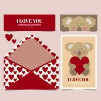 Vektor söt Koala kort