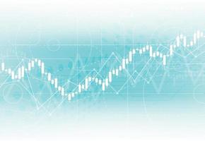 Business Candle Stick Graph Diagramm des Börseninvestitionshandels auf weißem Hintergrunddesign. bullischer Punkt, Trend der Grafik. Vektorillustration vektor