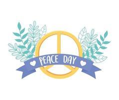 internationaler Friedenstag mit Friedenssymbol vektor