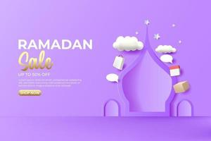 ramadan försäljning annonser banner design