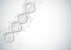 vetenskapsmall, tapeter eller banner med en DNA-molekyler.
